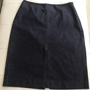 Bebe dark blue  denim skirt